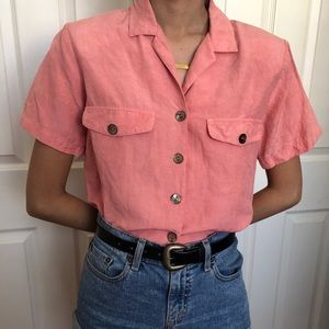 Vintage collar neck shirt